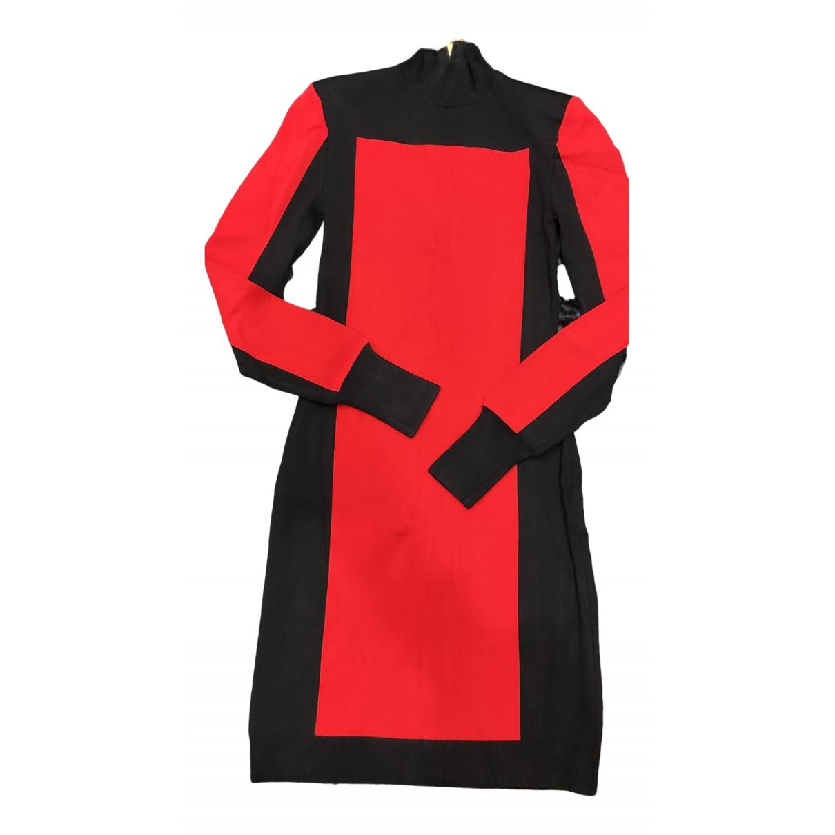 Balmain \N Kleid in  Rot Viskose