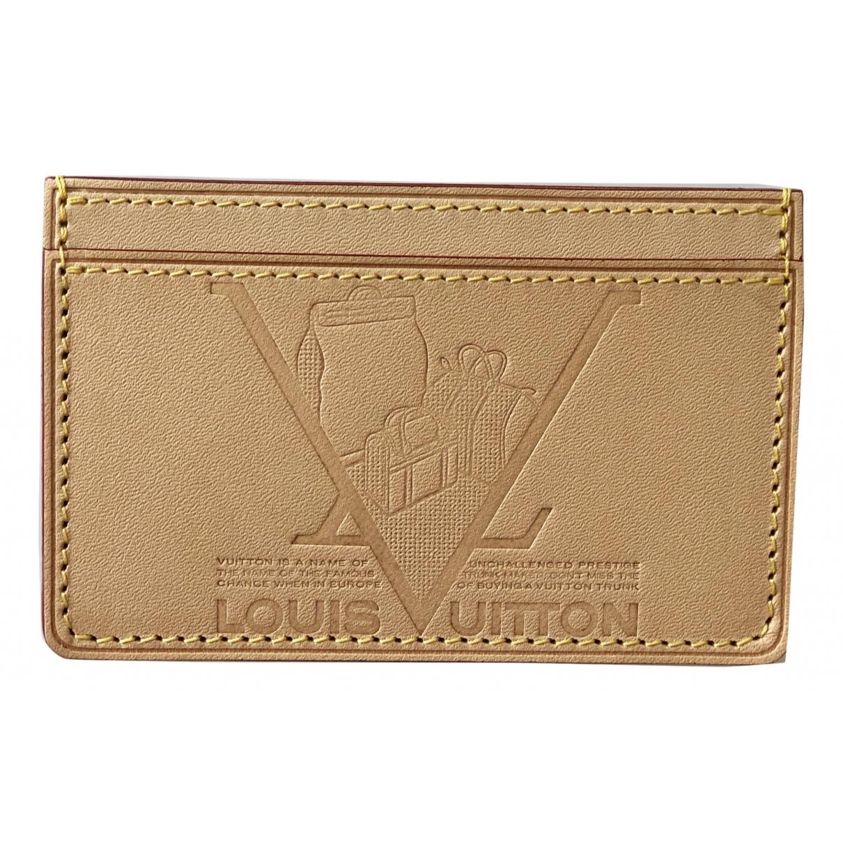 Louis Vuitton - Petite maroquinerie   pour femme en cuir - beige