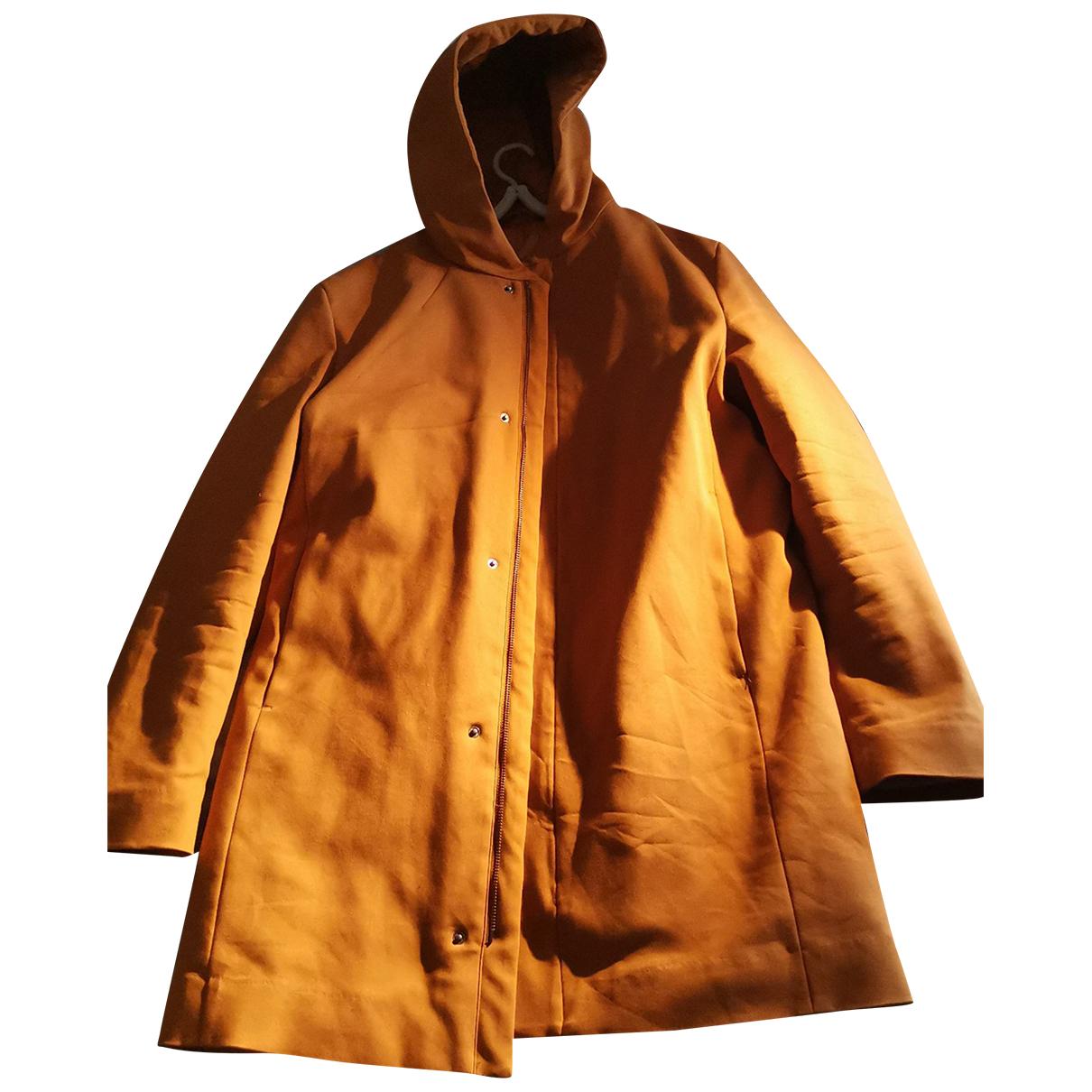 Cos - Manteau   pour homme en coton - orange