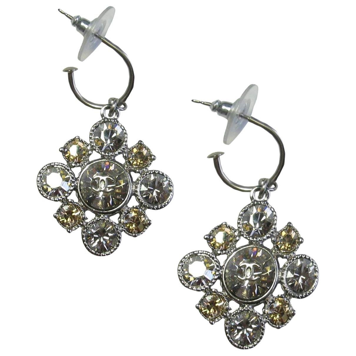 Chanel CC Silver Metal Earrings for Women \N