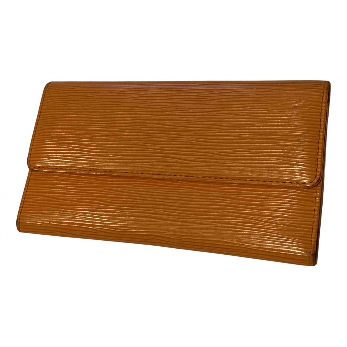 Louis Vuitton N Orange Leather wallet for Women N