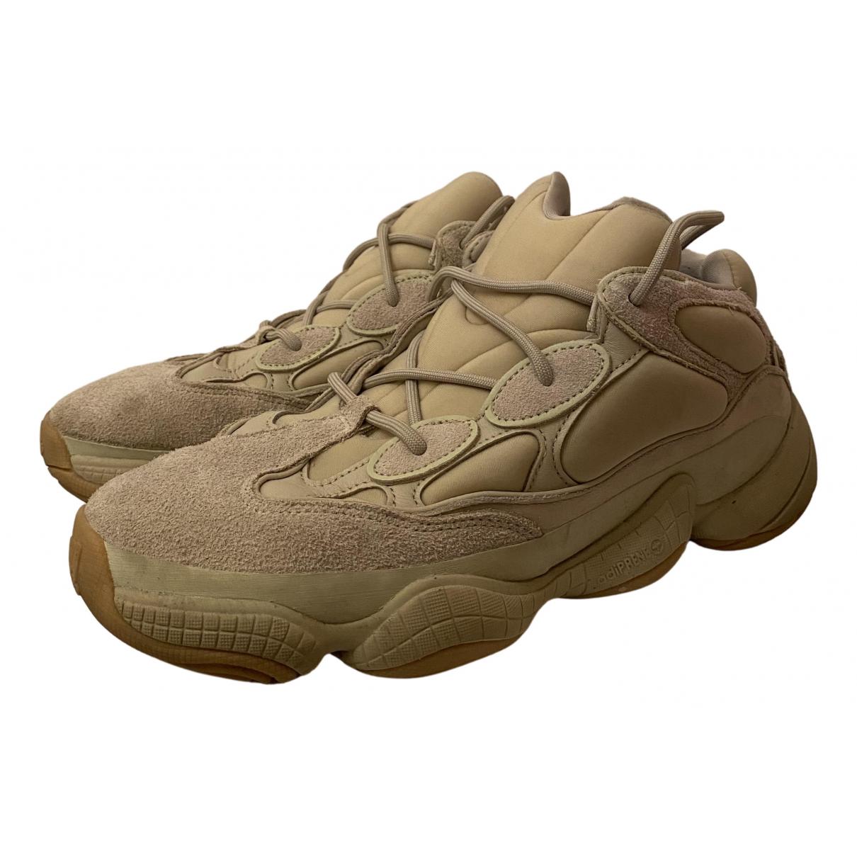Yeezy X Adidas - Baskets 500 pour homme en suede - kaki