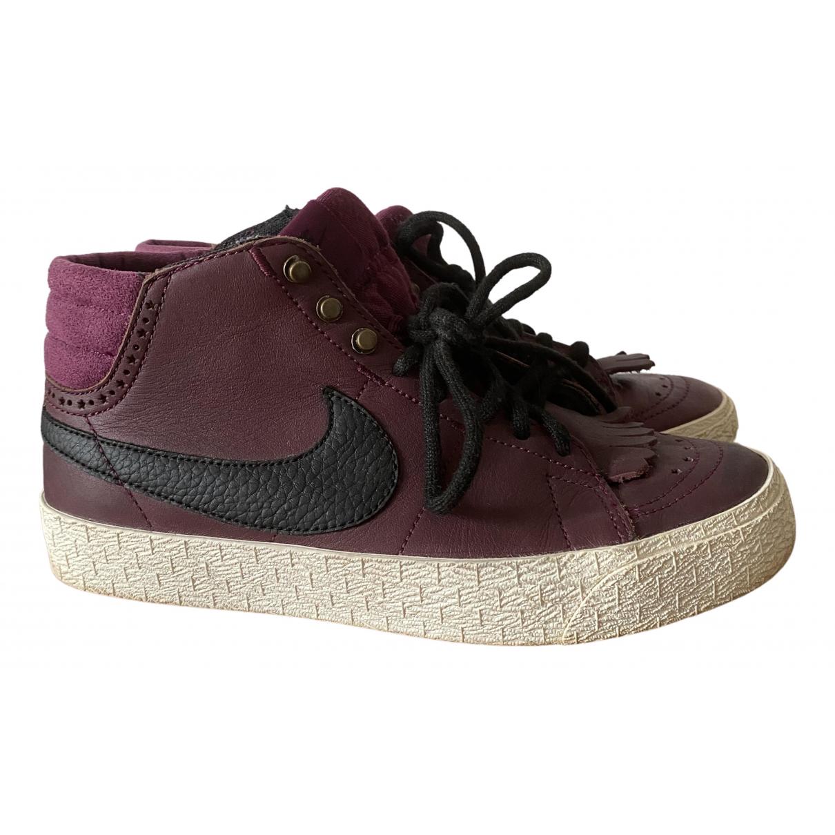 Nike - Baskets Blazer pour femme en cuir - violet