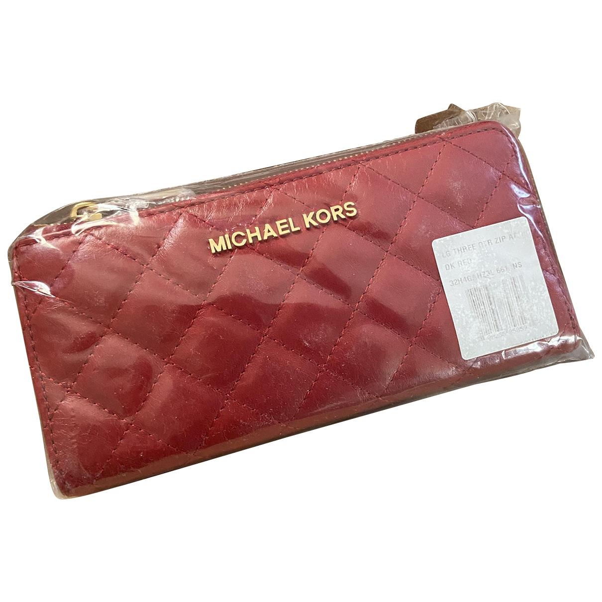 Michael Kors - Petite maroquinerie   pour femme en cuir - rouge