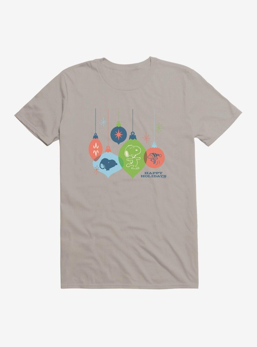 Peanuts Retro Happy Holidys Ornaments T-Shirt
