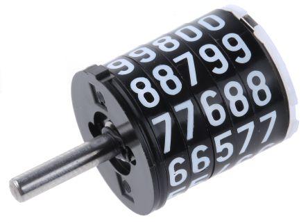 Hengstler Mechanical Counter  0 301 407, Stroke 5 digits Top Coming
