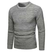 Men Solid Crew Neck Sweater