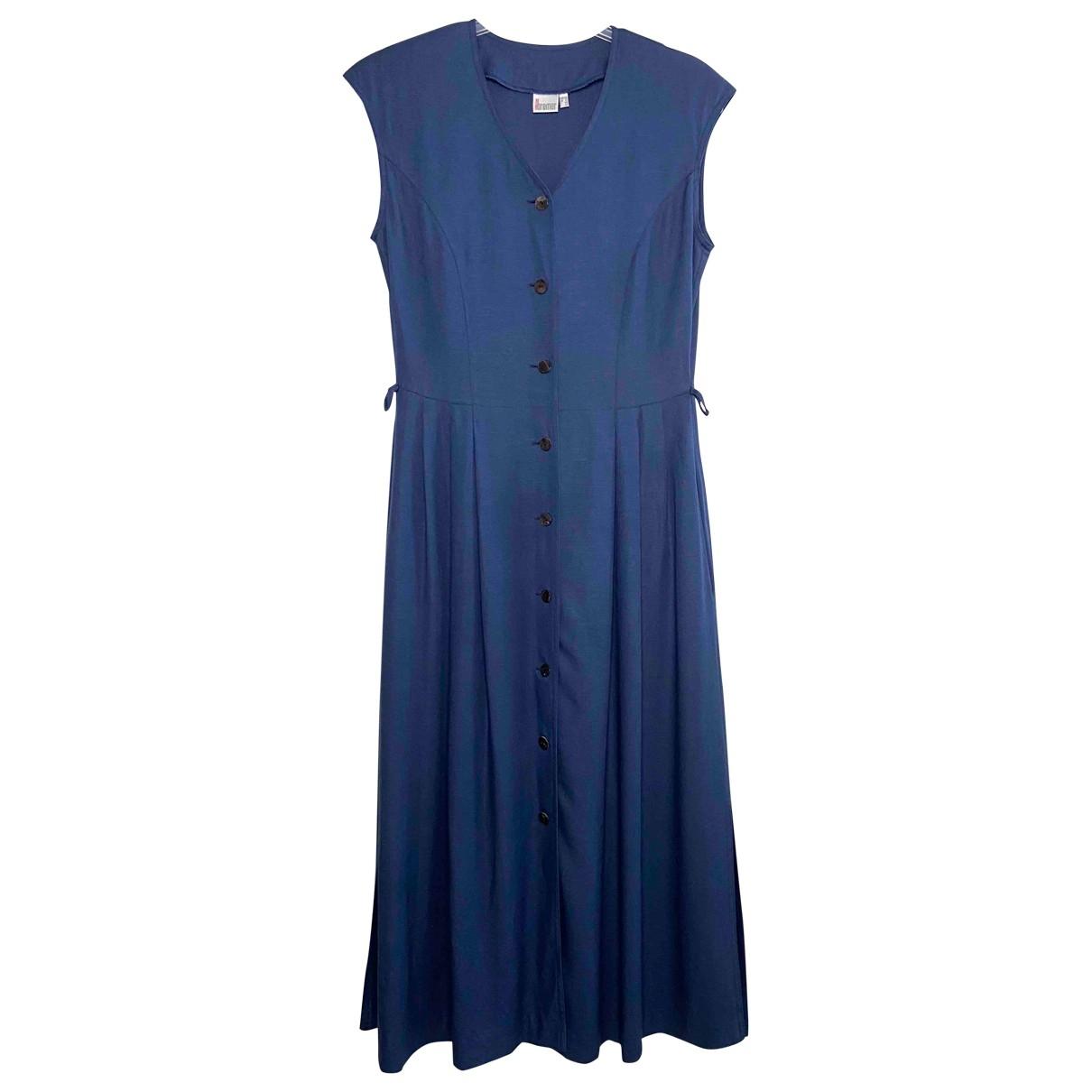 Non Signe / Unsigned Oversize Kleid in  Marine Viskose