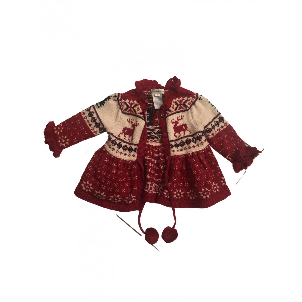 Ralph Lauren Collection - Pull   pour enfant en coton - rouge
