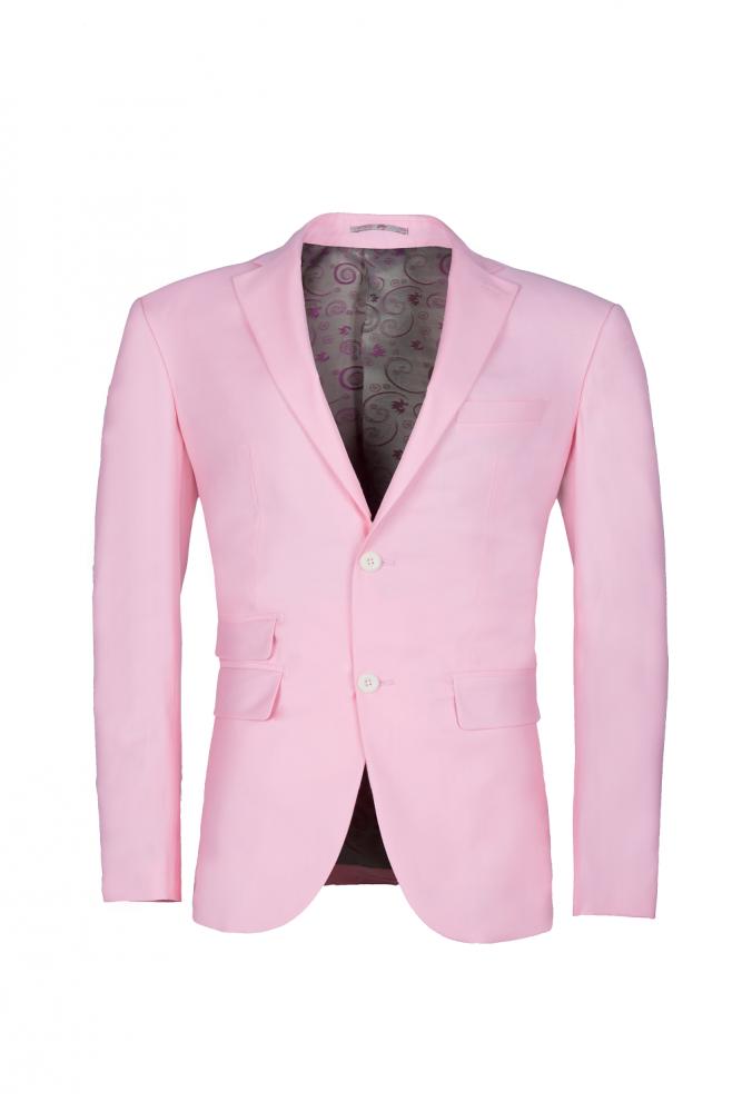 Costume de mariage simple boutonnage Peak Pink Candy pour les hommes