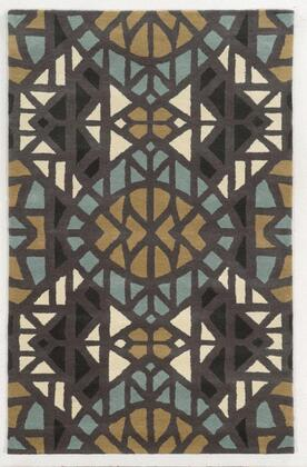 BBDBD8601003308RD Bradberry Downs BD8601-8' x 8' Hand-Tufted 100% Premium Blended Wool Rug in Gray   Round
