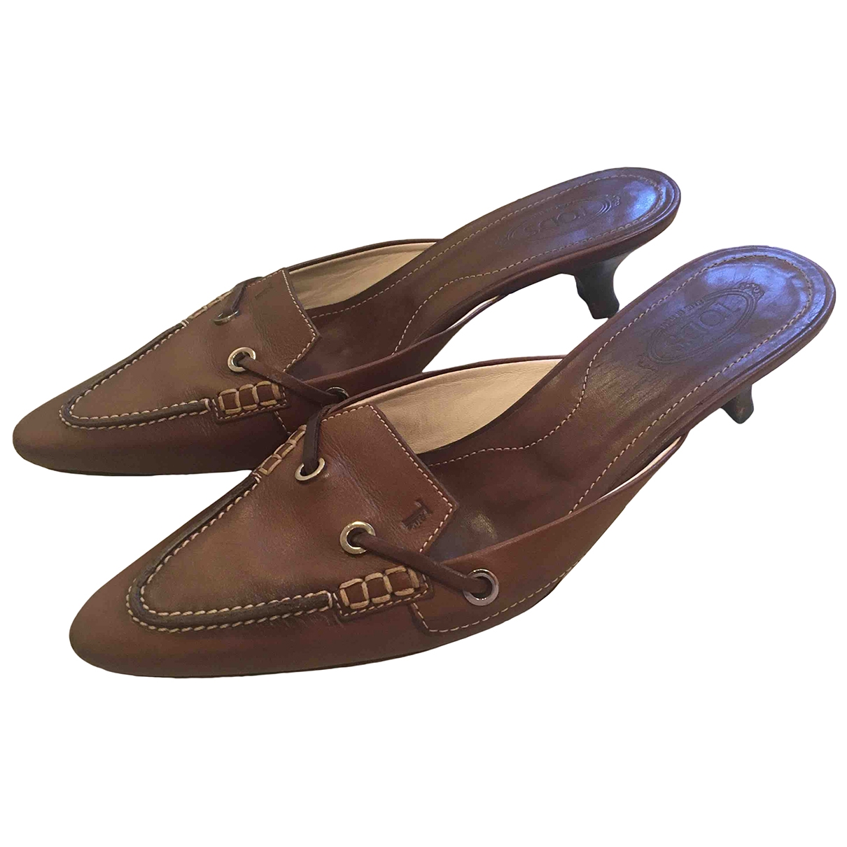 Tod's \N Brown Leather Sandals for Women 37 EU