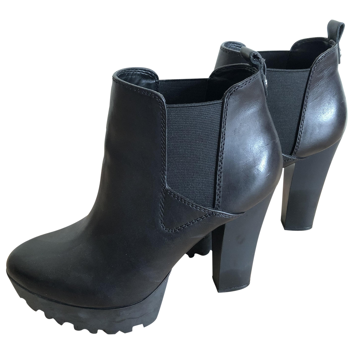Guess \N Black Leather Heels for Women 39 EU