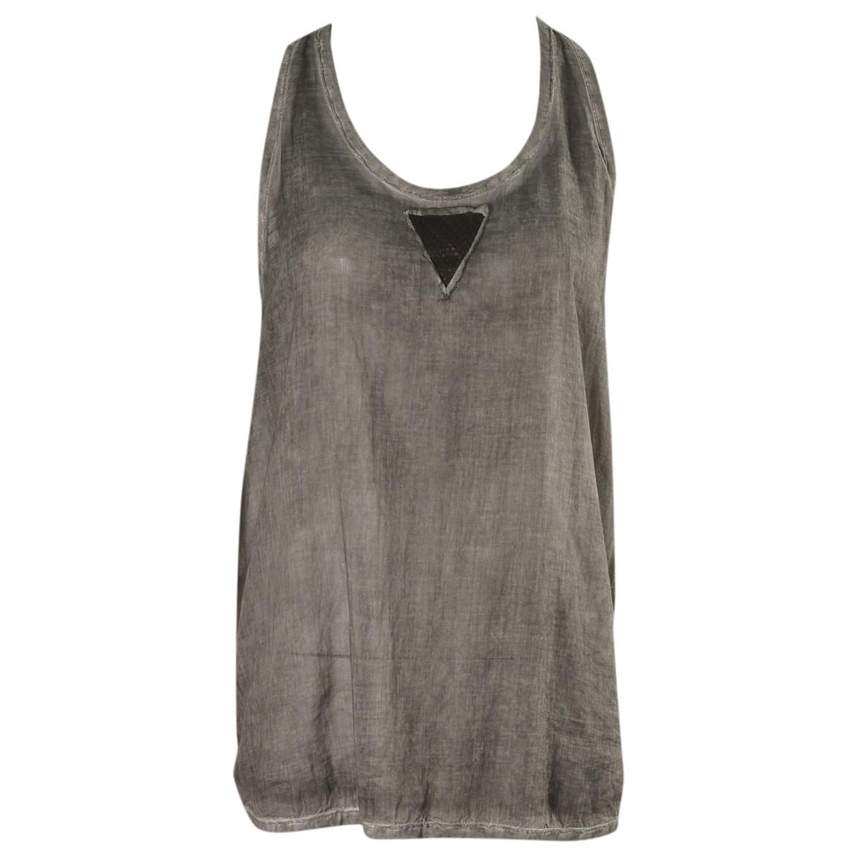 8pm - Top   pour femme en coton - gris