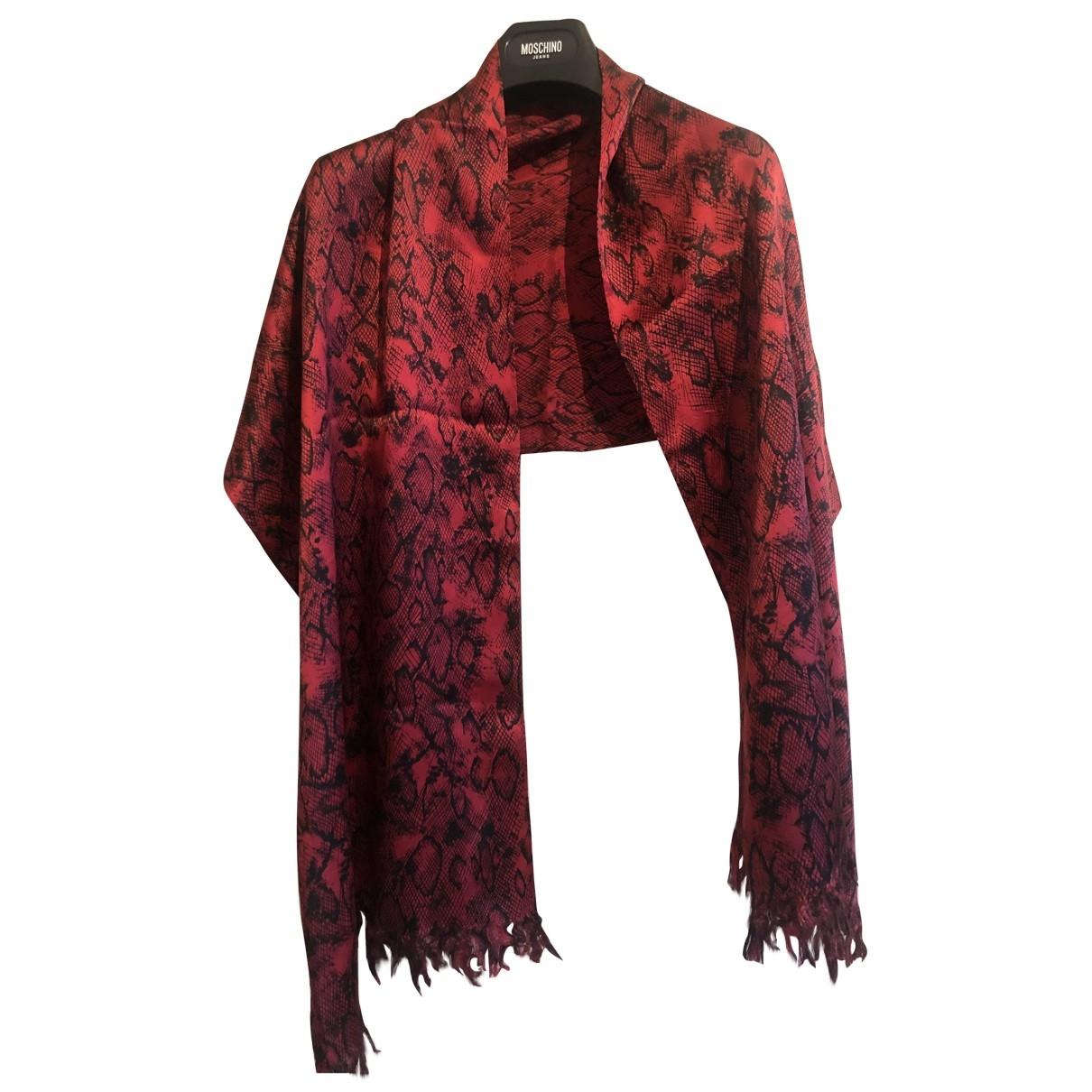 Sandro \N Red Silk scarf for Women \N