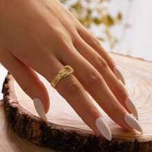 1 Stueck Ring mit metallischem Guertel Design