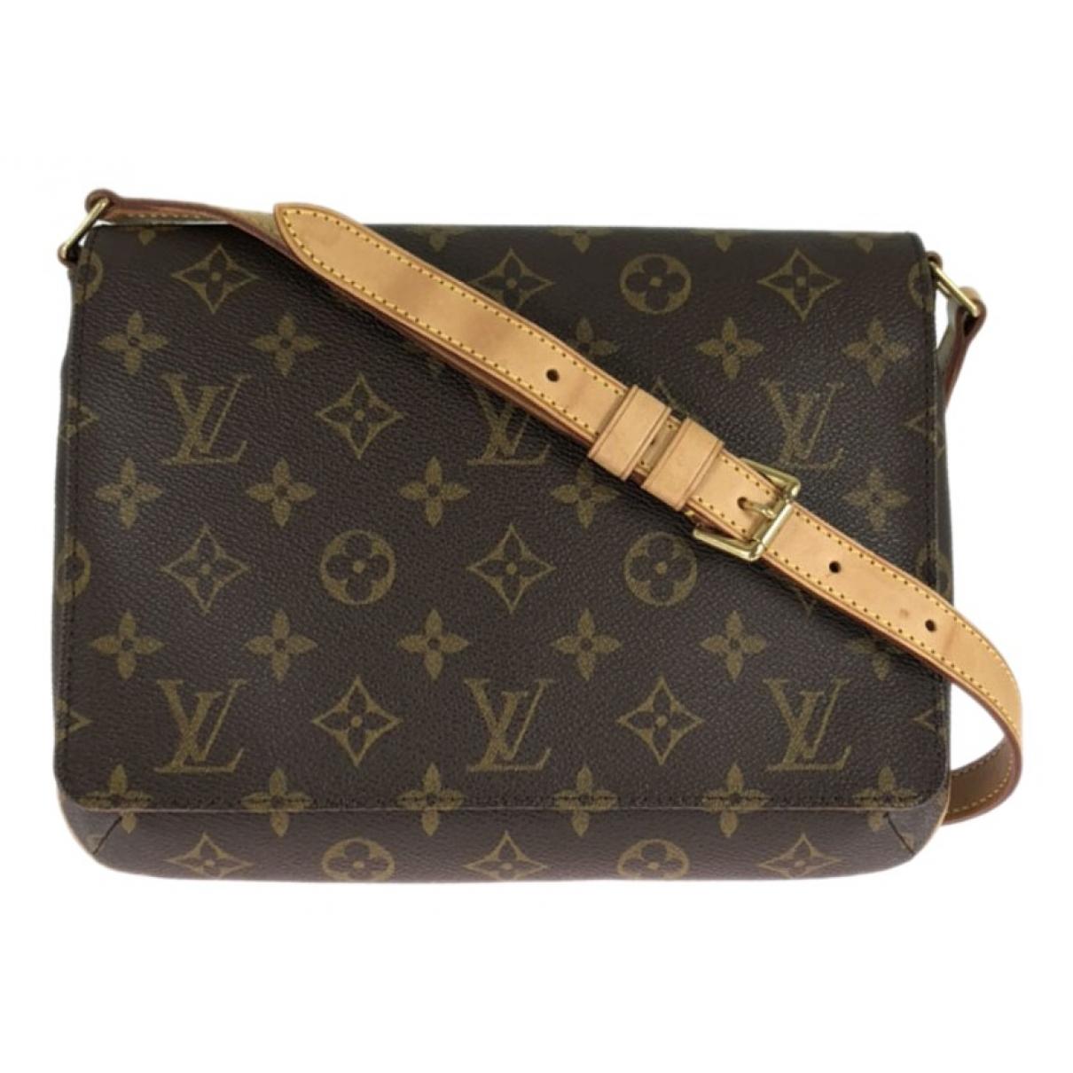 Louis Vuitton Musette Tango  Handtasche in  Braun Leinen