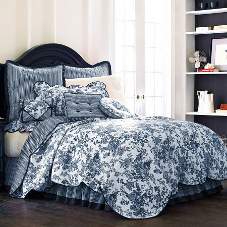Toile Garden Bedskirt, One Size , Multiple Colors
