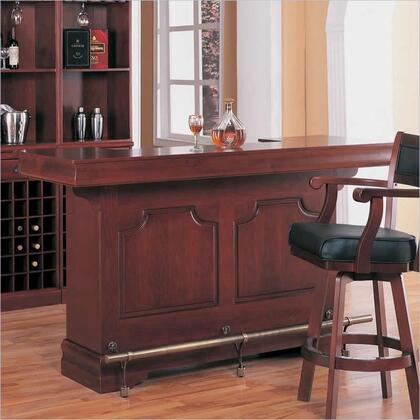 3078 Coaster Lambert Traditional Bar Unit with Antique Brass Accents  Sink  Wine Racks  Storage Drawers and Doors and Bracket Feet in