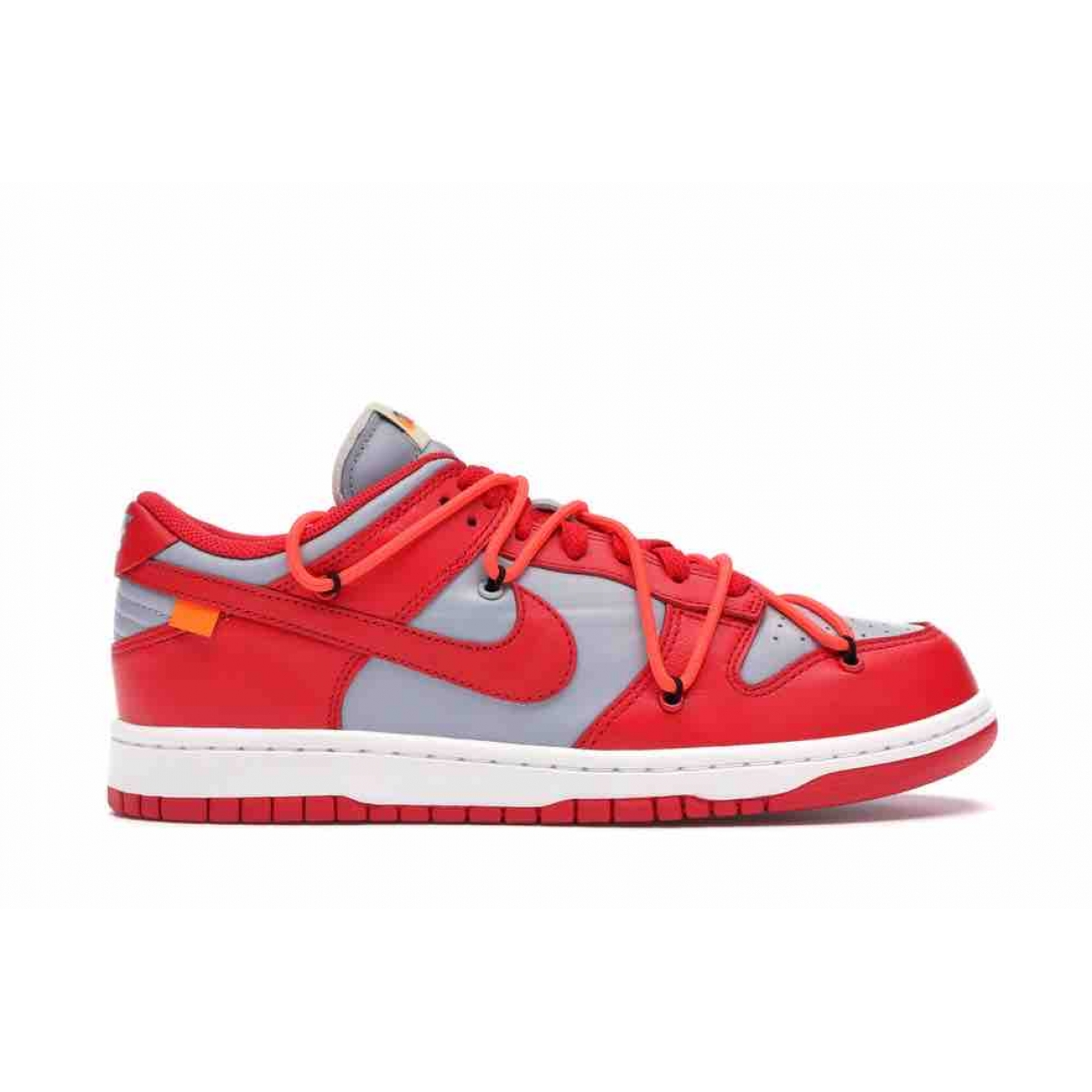 Nike X Off-white - Baskets Dunk Low pour homme en toile - rouge