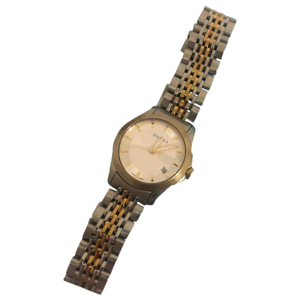 Gucci - Montre G-Timeless pour femme en acier - argent / or