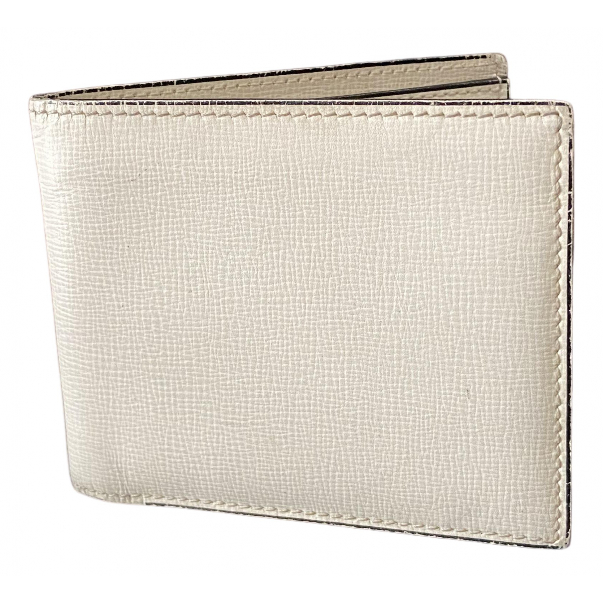 Valextra N White Leather Small bag, wallet & cases for Men N