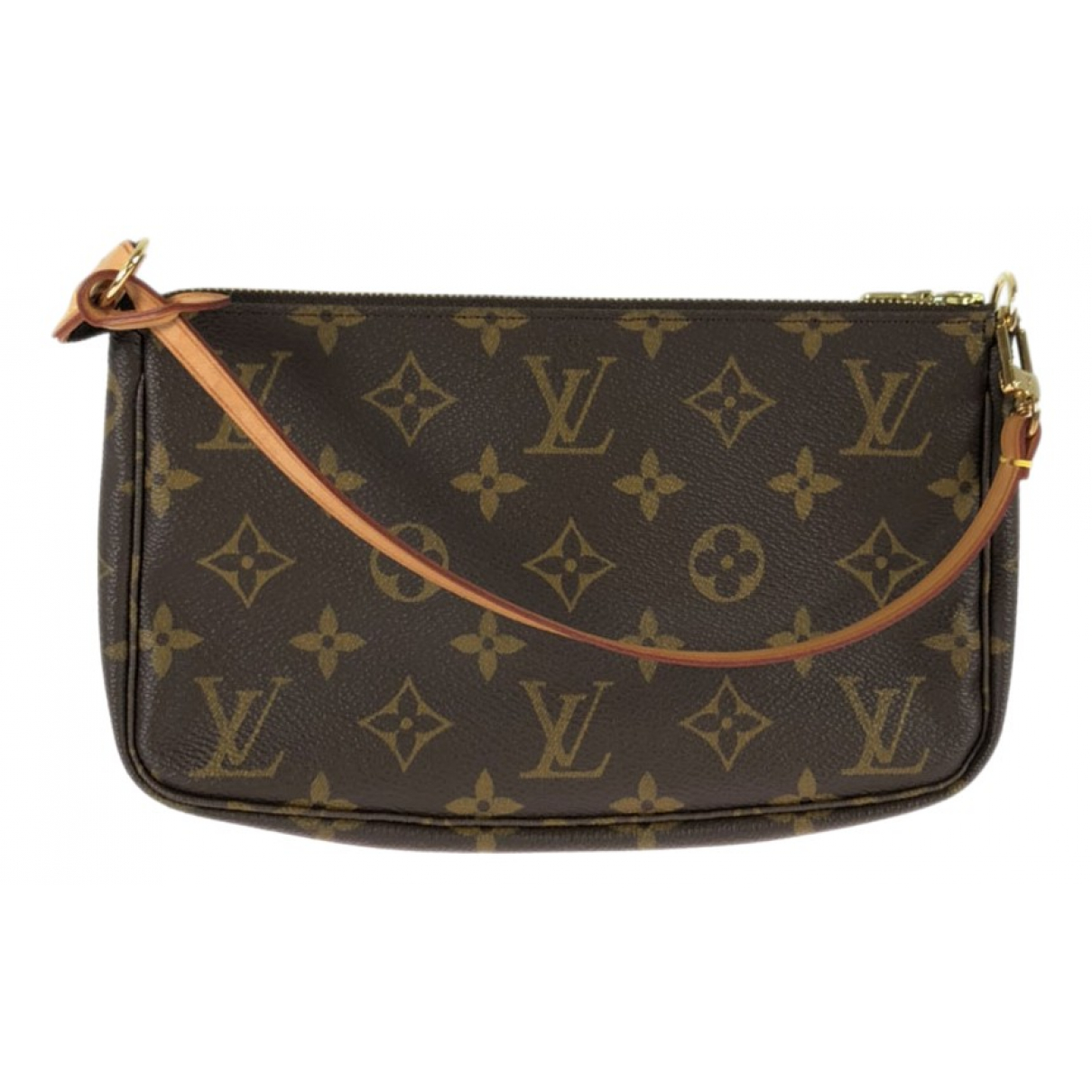 Louis Vuitton Pochette Accessoire Brown Cloth Clutch bag for Women N