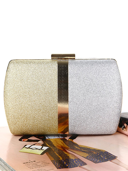 Milanoo Evening Clutch Bags Two Tone Wedding Bridal Contrast Color Party Handbags