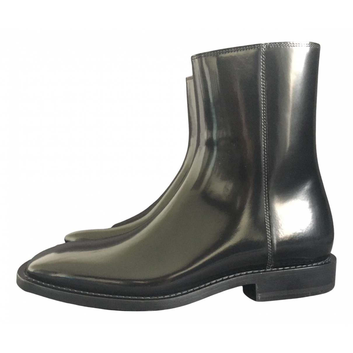 Balenciaga N Black Patent leather Ankle boots for Women 39.5 EU