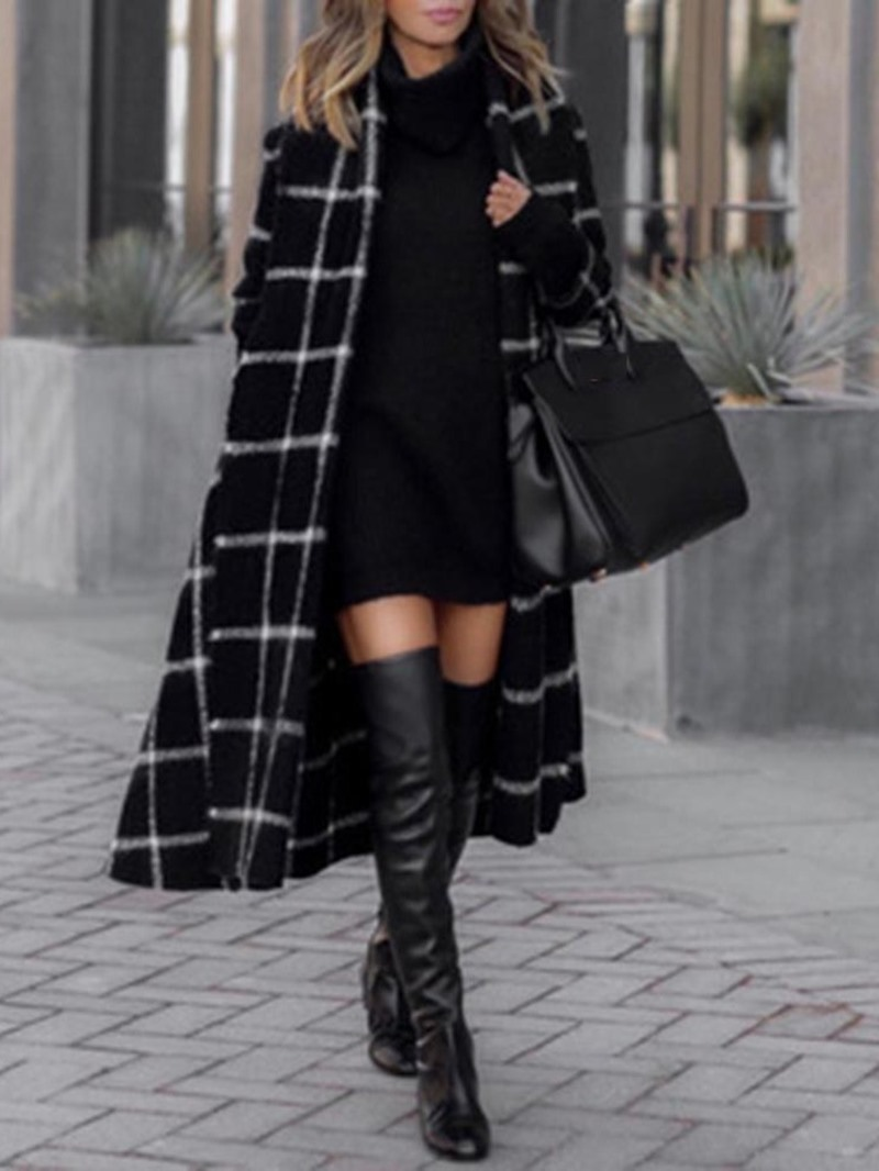 Ericdress Loose Long Lapel Women's Overcoat