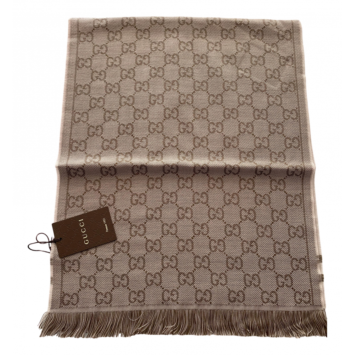 Gucci - Foulard   pour femme en laine - marron