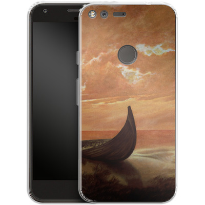 Google Pixel XL Silikon Handyhuelle - Bill Plank - Sunset Voyager von TATE and CO