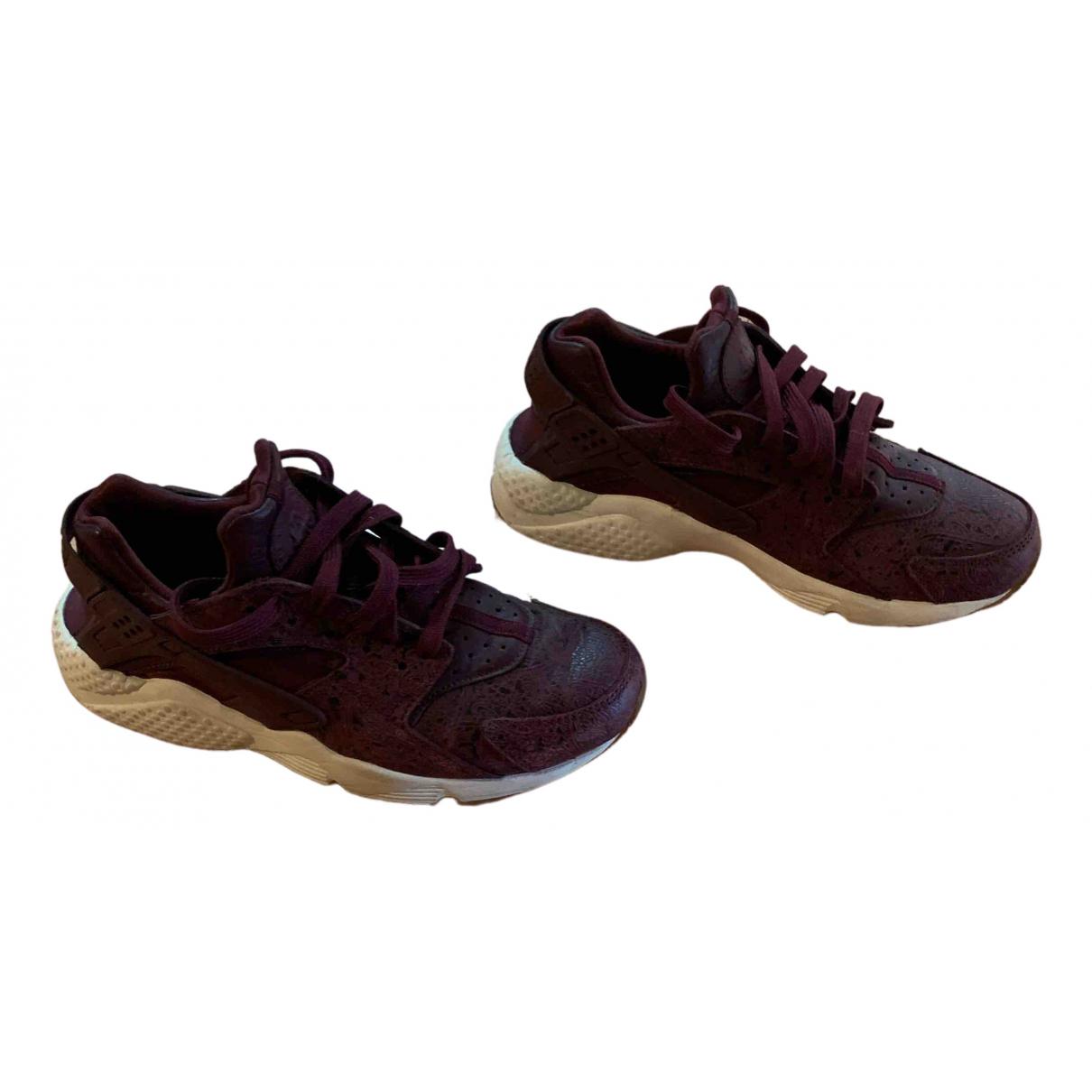 Nike - Baskets Huarache pour femme en cuir - violet
