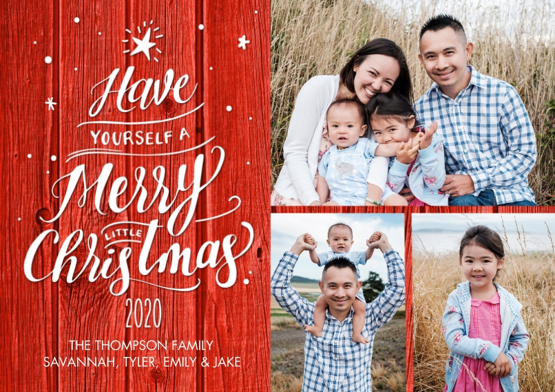 Christmas Photo Cards Flat Matte Photo Paper Cards with Envelopes, 5x7, Card & Stationery -2020 Script Tree by Tumbalina