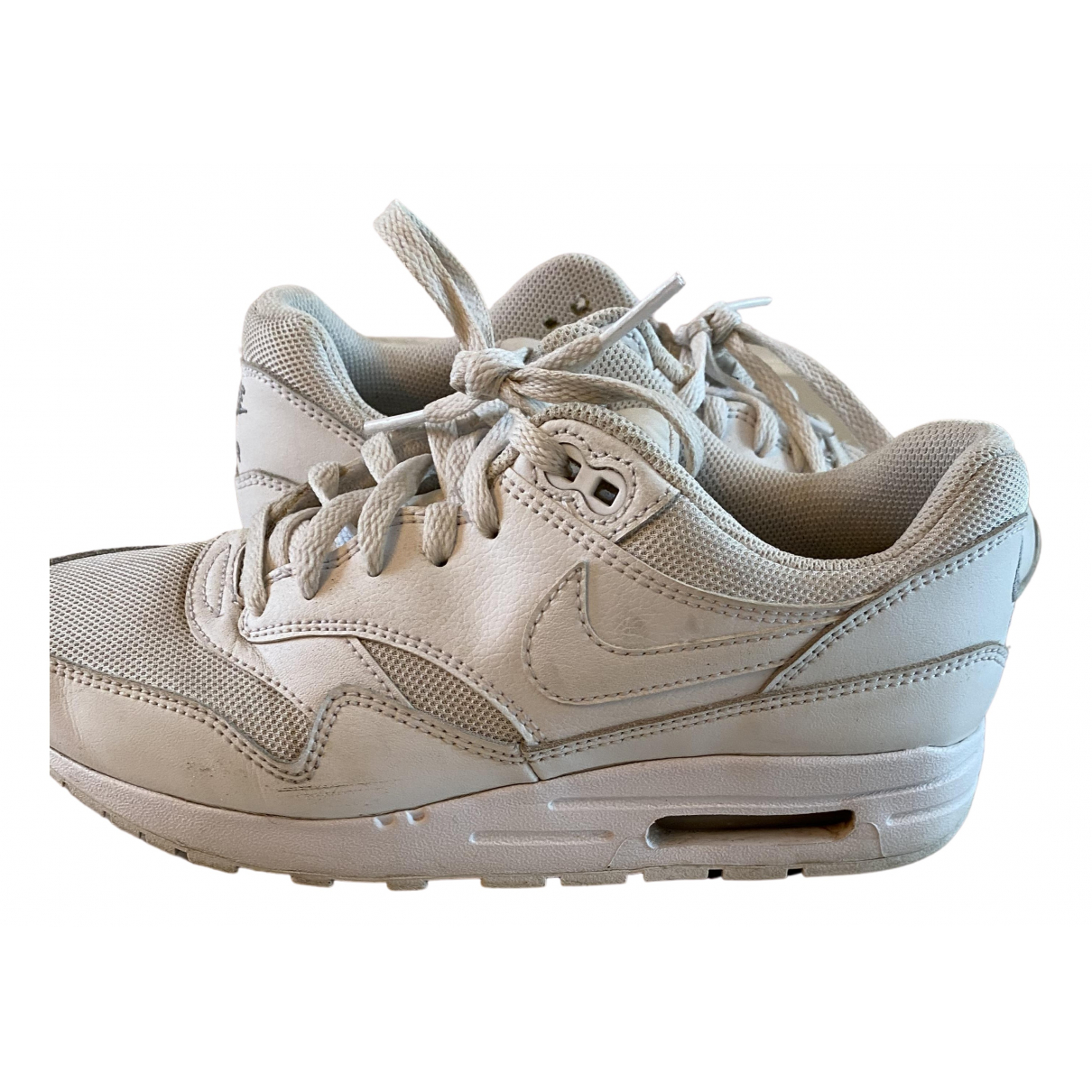 Nike Air Max 1 Sneakers in  Weiss Leder