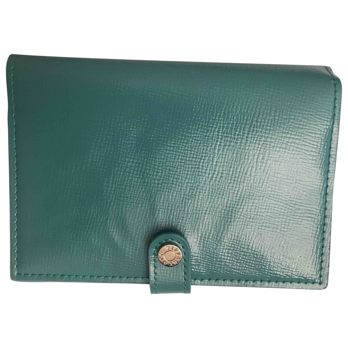 Tiffany & Co \N Turquoise Leather Purses, wallet & cases for Women \N