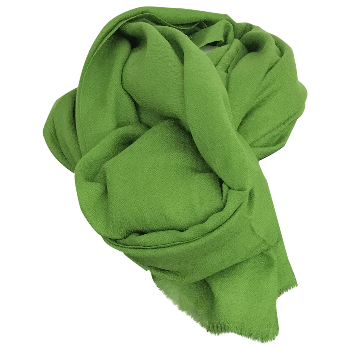 Non Signé / Unsigned \N Green Cashmere scarf for Women \N