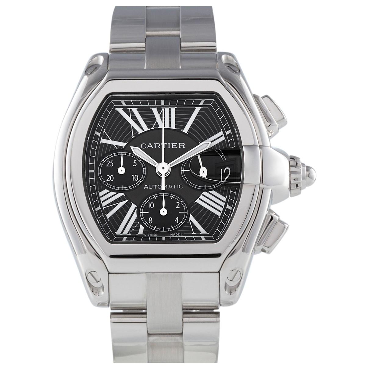 Cartier Roadster Uhr in  Schwarz Stahl