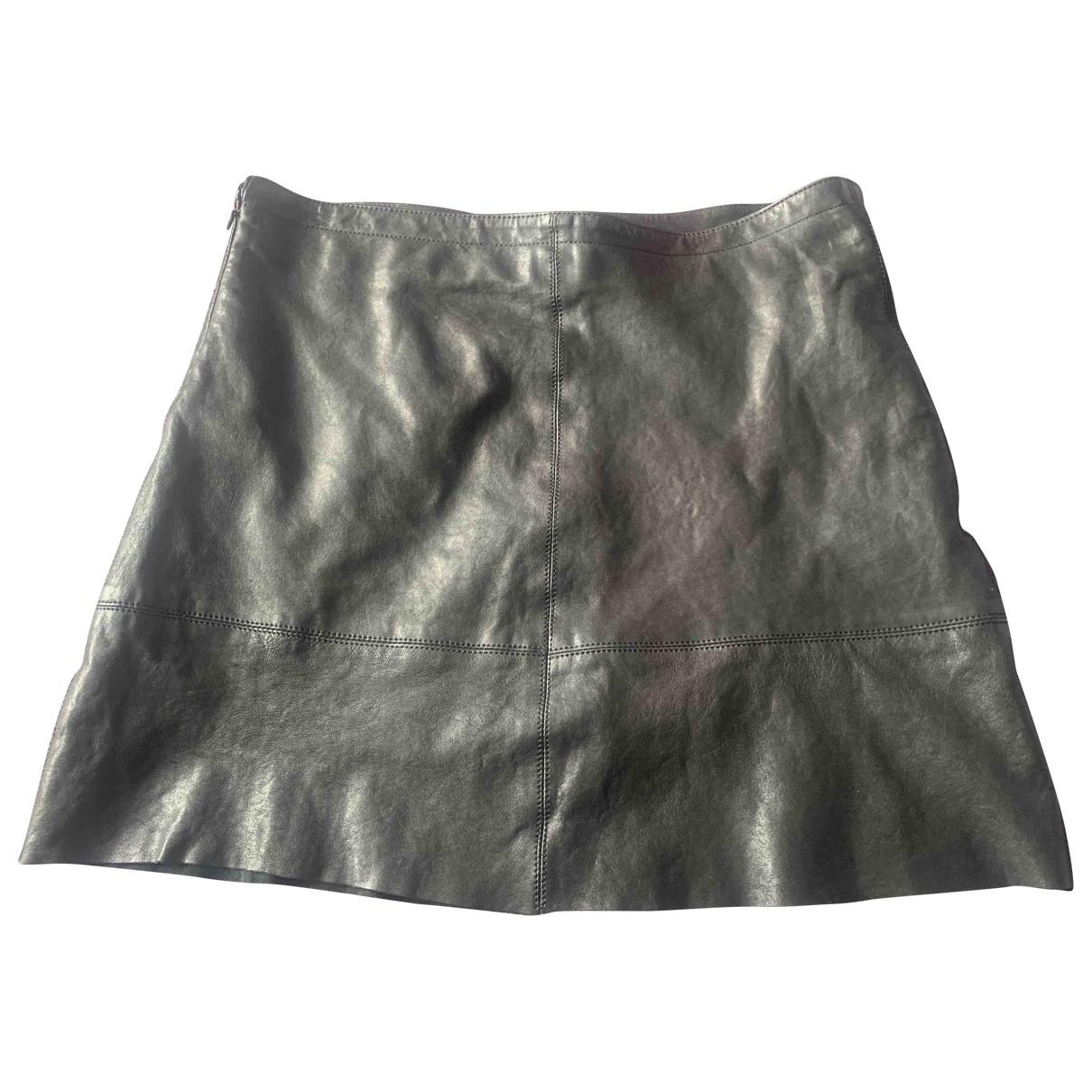Chevignon - Jupe   pour femme en cuir - noir