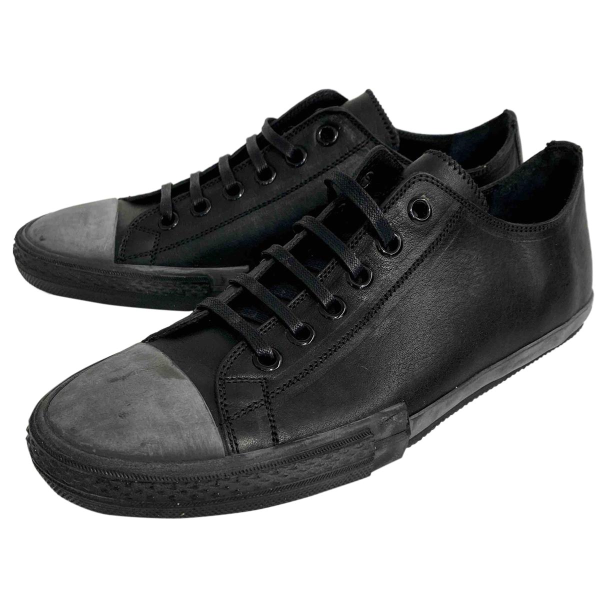 Jil Sander - Baskets   pour homme en cuir - noir