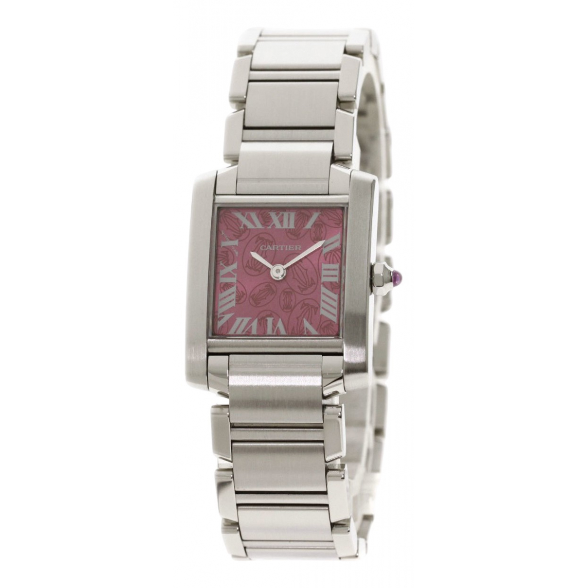 Cartier Tank Française Pink Steel watch for Women \N
