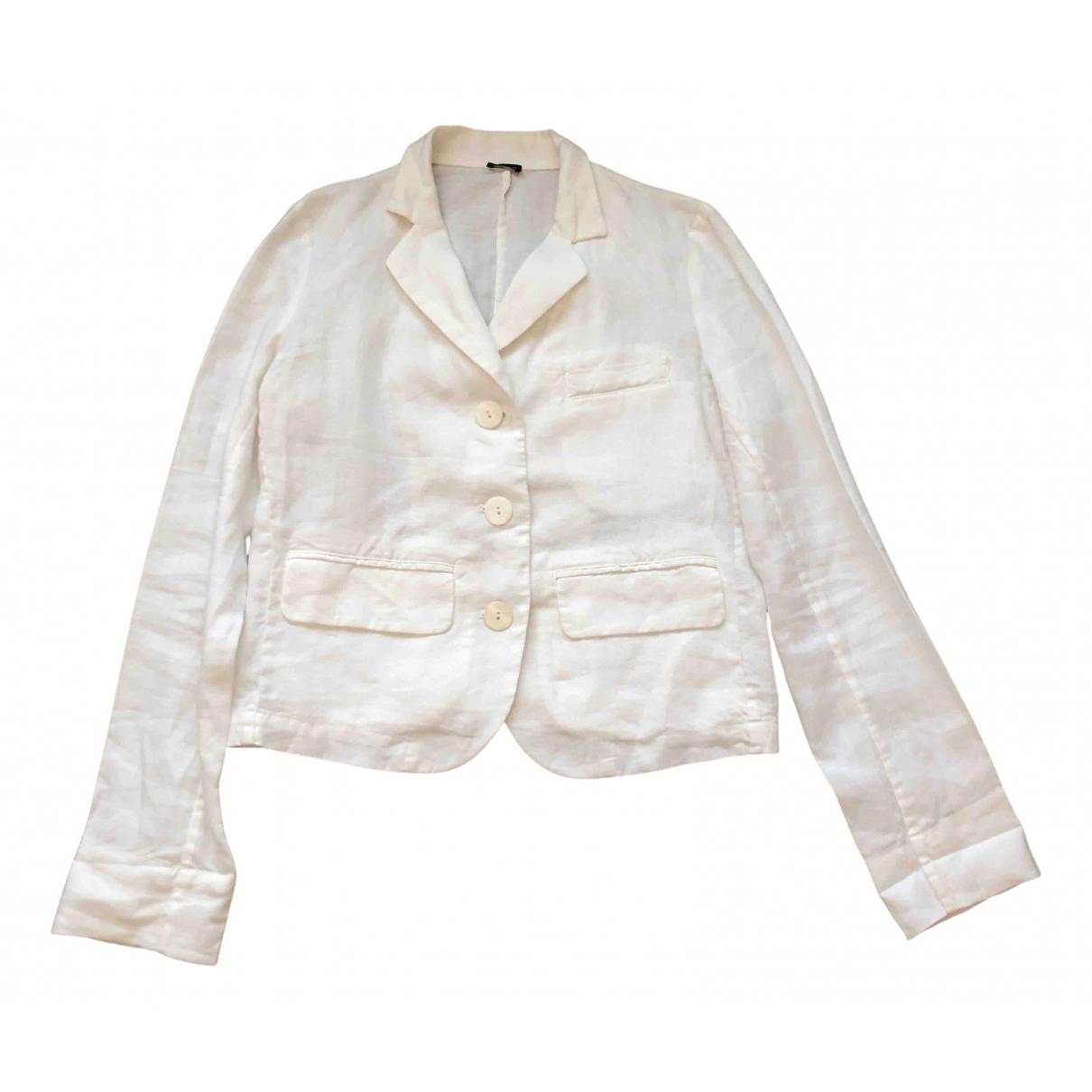 Joseph - Veste   pour femme en lin - blanc