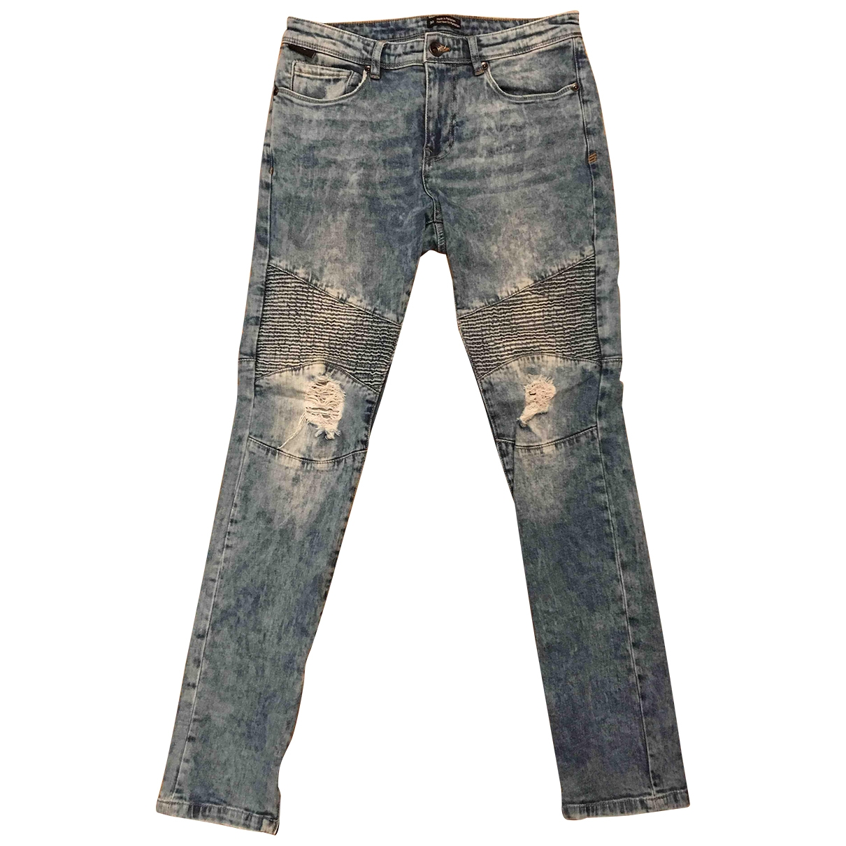 Urban Outfitters \N Blue Cotton - elasthane Jeans for Men 30 US