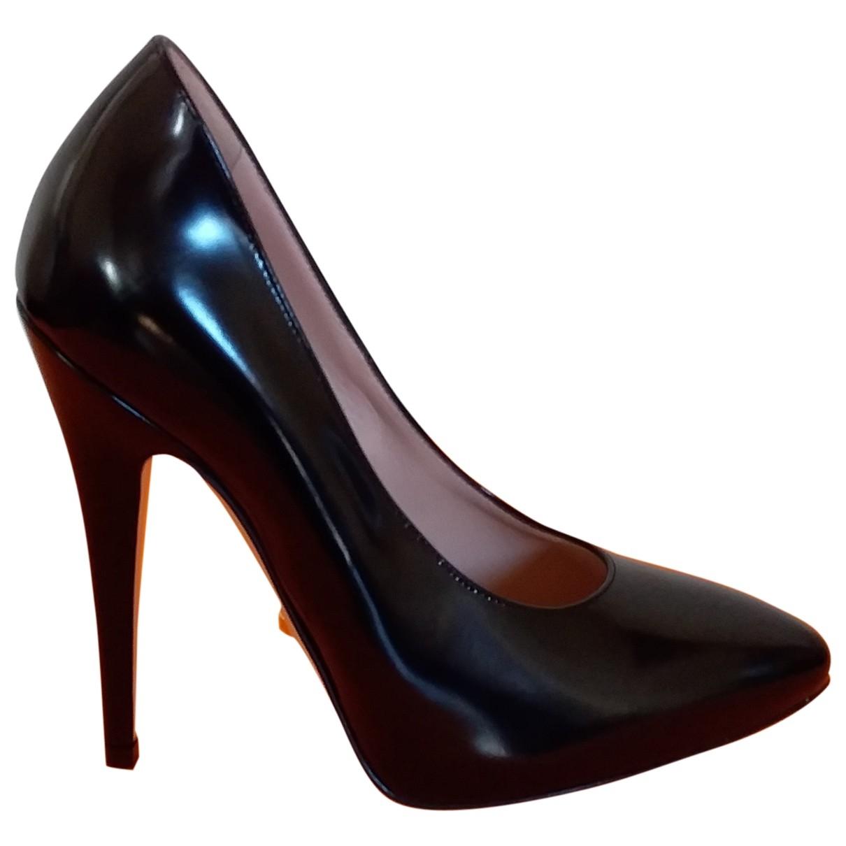 Gucci \N Black Leather Heels for Women 34.5 EU