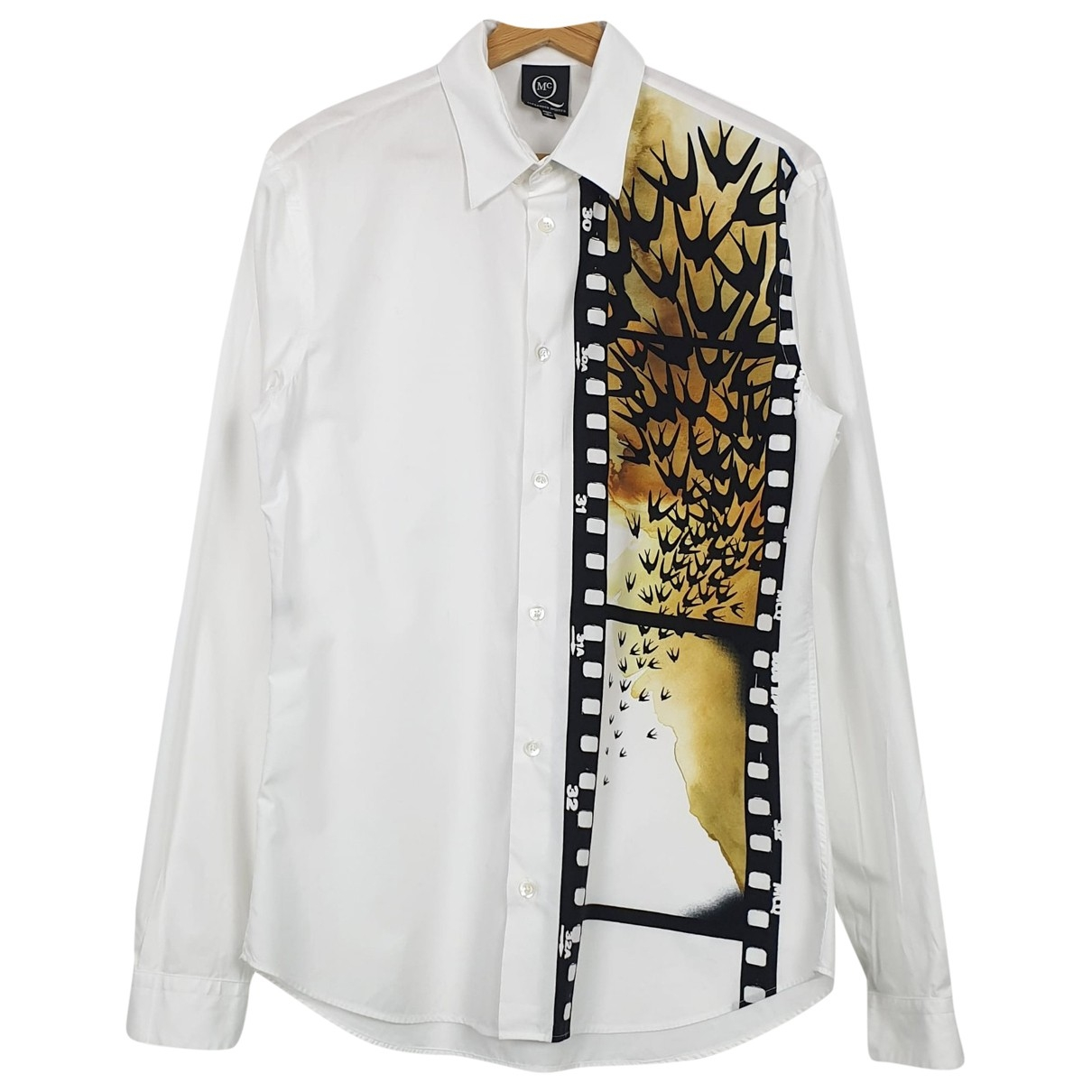 Mcq - Chemises   pour homme en coton - blanc
