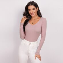 Form Fitted Rib-knit Top