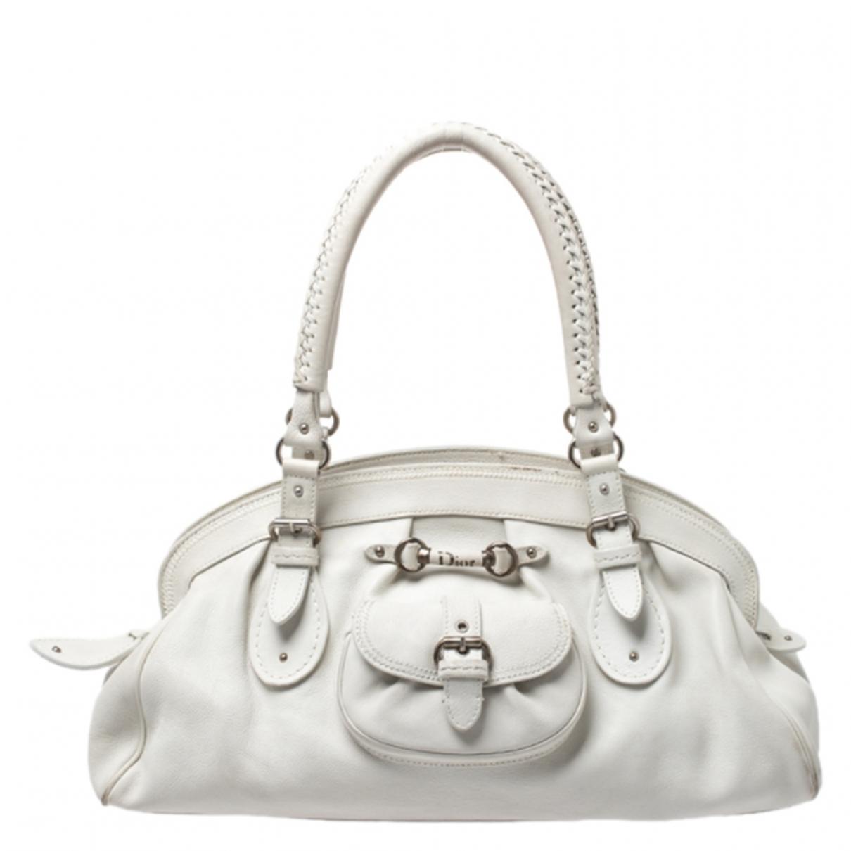 Dior \N White Leather handbag for Women \N
