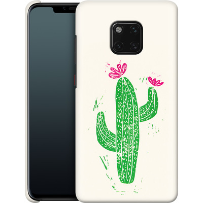 Huawei Mate 20 Pro Smartphone Huelle - Linocut Cacti von Bianca Green