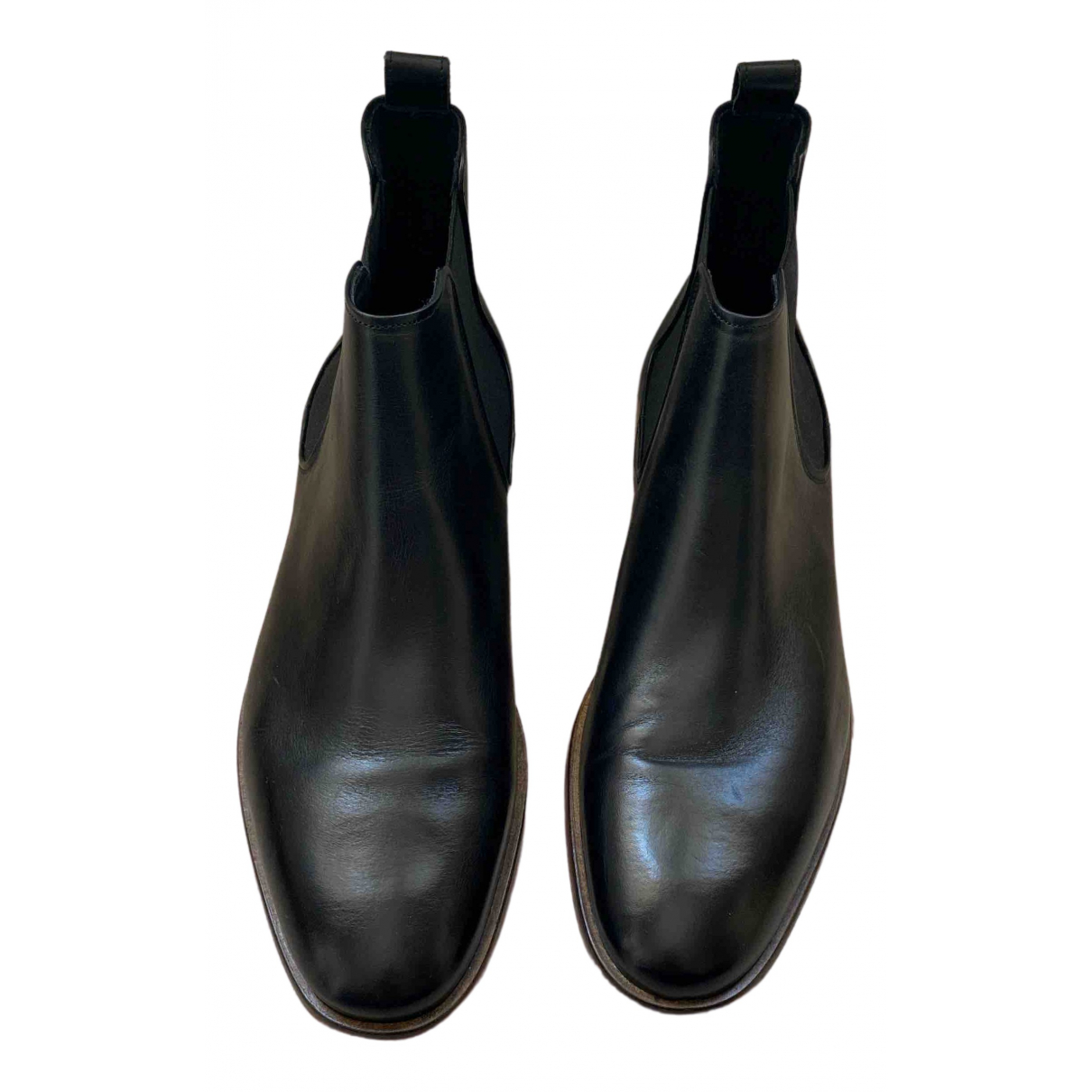 Minelli \N Black Leather Boots for Men 46 EU
