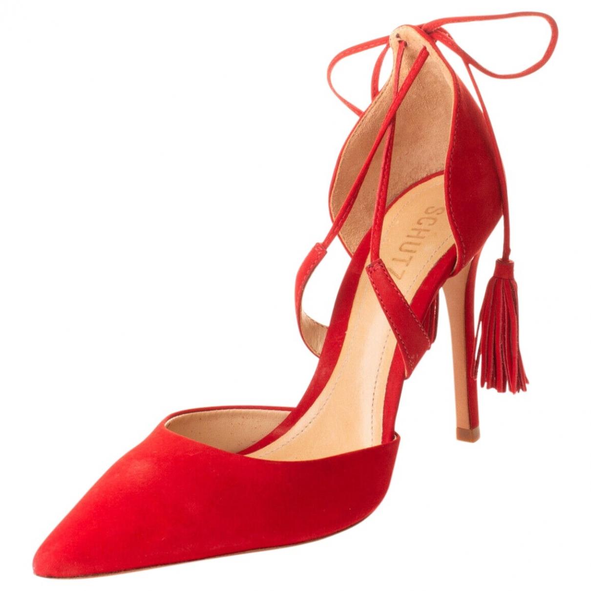Schutz - Escarpins   pour femme en suede - rouge